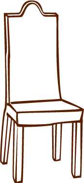 Dining chair Illustration modern